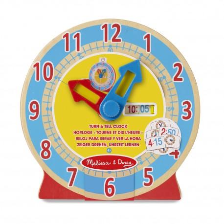 Zegar- przekręć i powiedz, Melissa&Doug