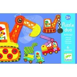 DJECO puzzle dwuelementowe Pojazdy